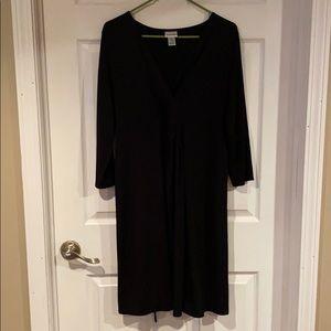 Black long sleeved maternity dress size XL